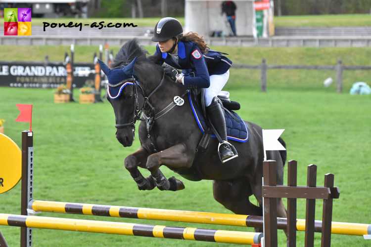 Frederike Schulte et Black Jack 185 - ph. Poney As
