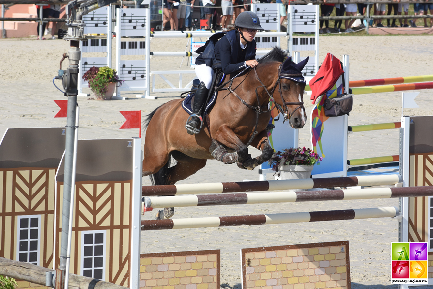 Ulloa des Clafs, 5e de l'As Poney Elite de CSO, est une fille de Linaro SL - ph. Poney As