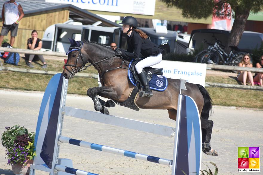 Badboï ar Kamenn, par Rasmus SL, 3e du championnat de France As Poney Elite de CSO - ph. Poney As